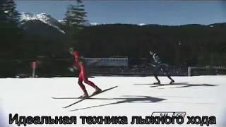 Идеальная  техника конькового лыжного хода