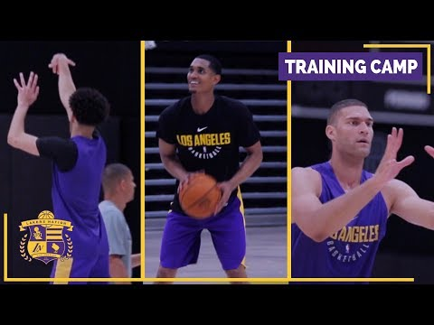 Lakers Training Camp (Practice Footage): Lonzo Ball, Brook Lopez, Jordan Clarkson