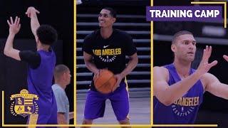 Lakers Training Camp (Practice Footage): Lonzo Ball, Brook Lopez, Jordan Clarkson