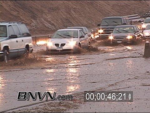 7/8/2007 Flooding on Interstate 35w in Minneapolis, MN