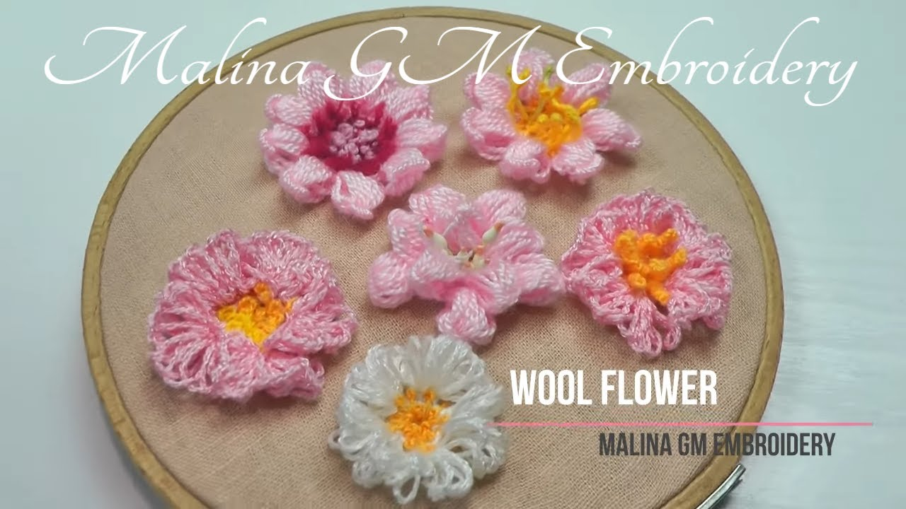 Simple idea for a beautiful flower | White Flower made of wool