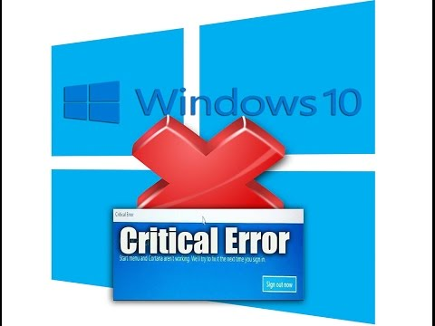 Windows 10 Critical Error Fix