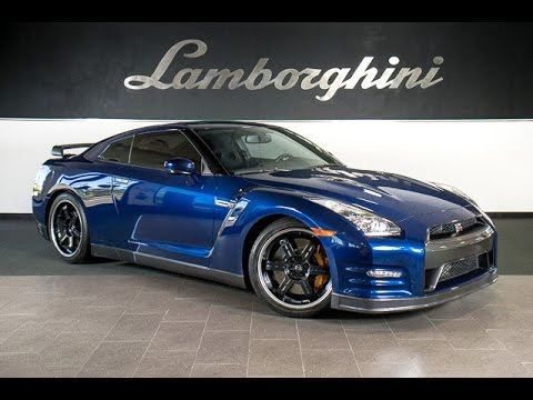 2014 Nissan Gt R Black Edition Metallic Blue Lt0697 Youtube