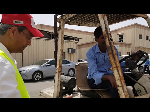 Forklift training for Trafco Group B.S.C - Kingdom of Bahrain