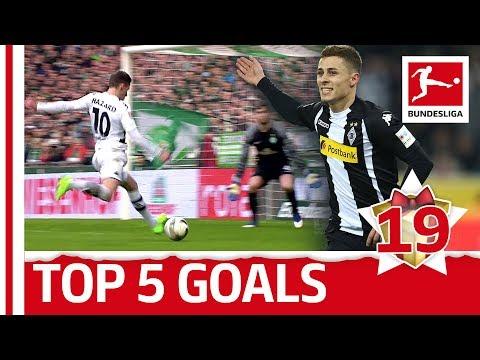Thorgan hazard - top 5 goals - bundesliga 2017 advent calendar 19
