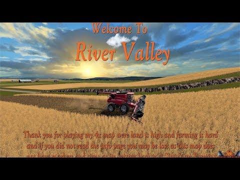 Farming Simulator 17 River Valley New Map Mod Tour