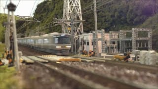 Nゲージ JR西日本 223系&225系 新快速 PART2 車窓~View From A Train Window thumbnail