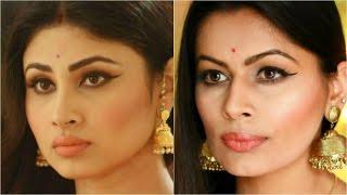 mouni roy shivanya naagin inspired look indian makeup guru kavya k