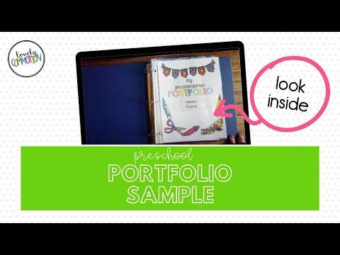 Preschool Portfolio Preview