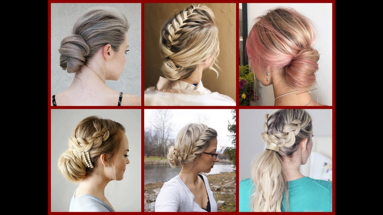 top-30 easy everyday updo ideas - updo hairstyles for work & school