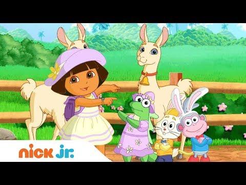 Diversão com os animais 🐾 Vídeo Musical com Dora, A Aventureira & Bubble Guppies   Nick Jr. 🎤