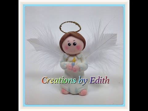 Souvenirs Bautismo Nena.Angel In Cold Porcelain Or Fondant Tutorial