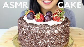 Black Forest Cake ASMR STICKY and SOFT EATING SOUNDS with Zoom Mic H6