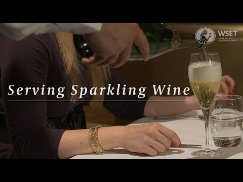 wine article WSET Wine Service Series  Serving Sparkling Wine