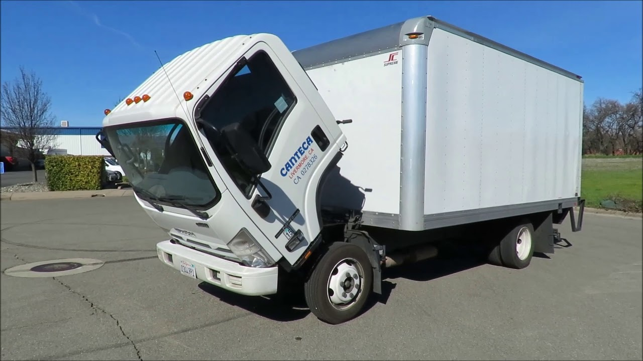2013 Isuzu NPR HD V8 Gas 16' Box Truck with Lift Gate