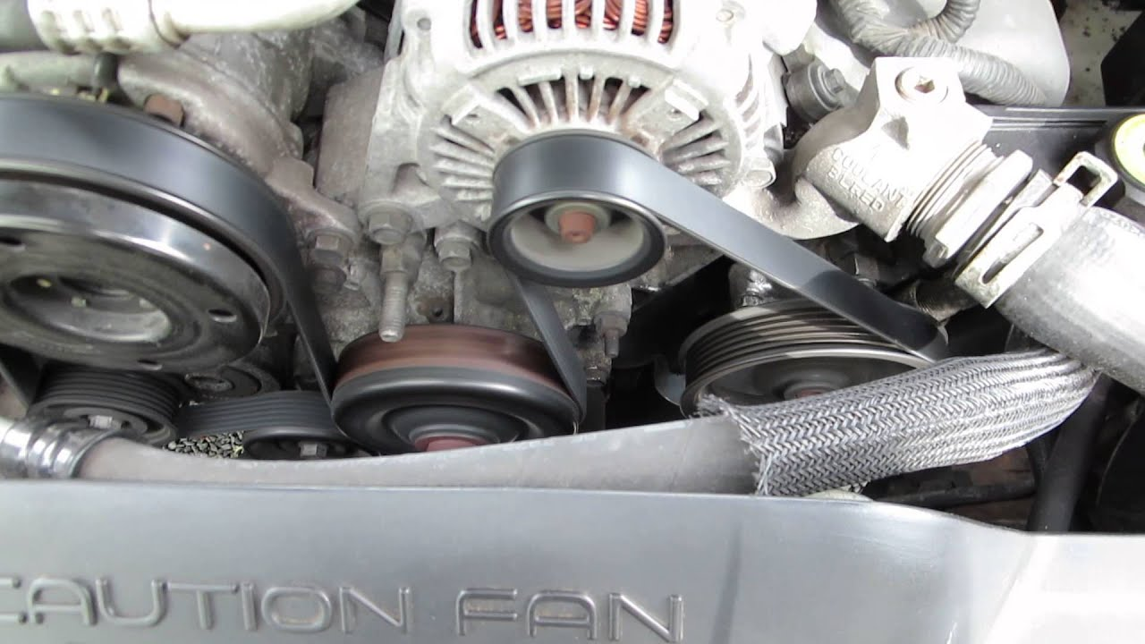 how to change serpentine belt on 2004 grand cherokee