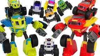 Blaze and the Monster Machines Transforming Robot Rider! Defeat dinosaurs! #DuDuPopTOY