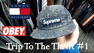 I FOUND A SUPREME HAT FOR $8!!! ||| Trip To The Thrift #1