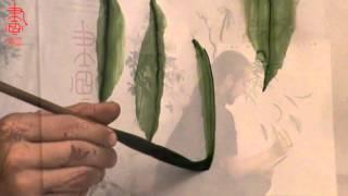 Обучение китайской живописи и живописи у-син. Мазок огня и рисование Листьев