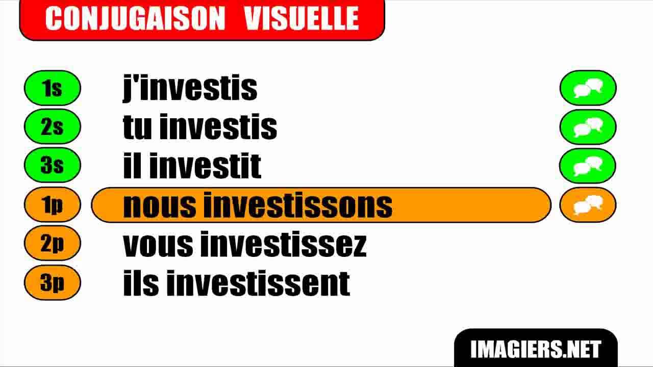 Conjugaison Indicatif Present Verbe Investir Youtube