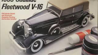 Italeri 1/24 1933 Cadillac Fleetwood V-16 Kit# 836