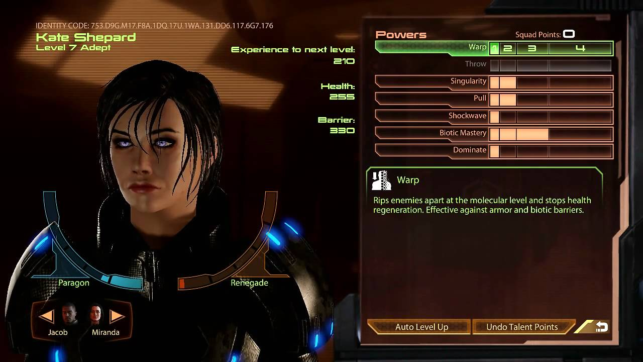 Mass Effect  Adept Insanity Build