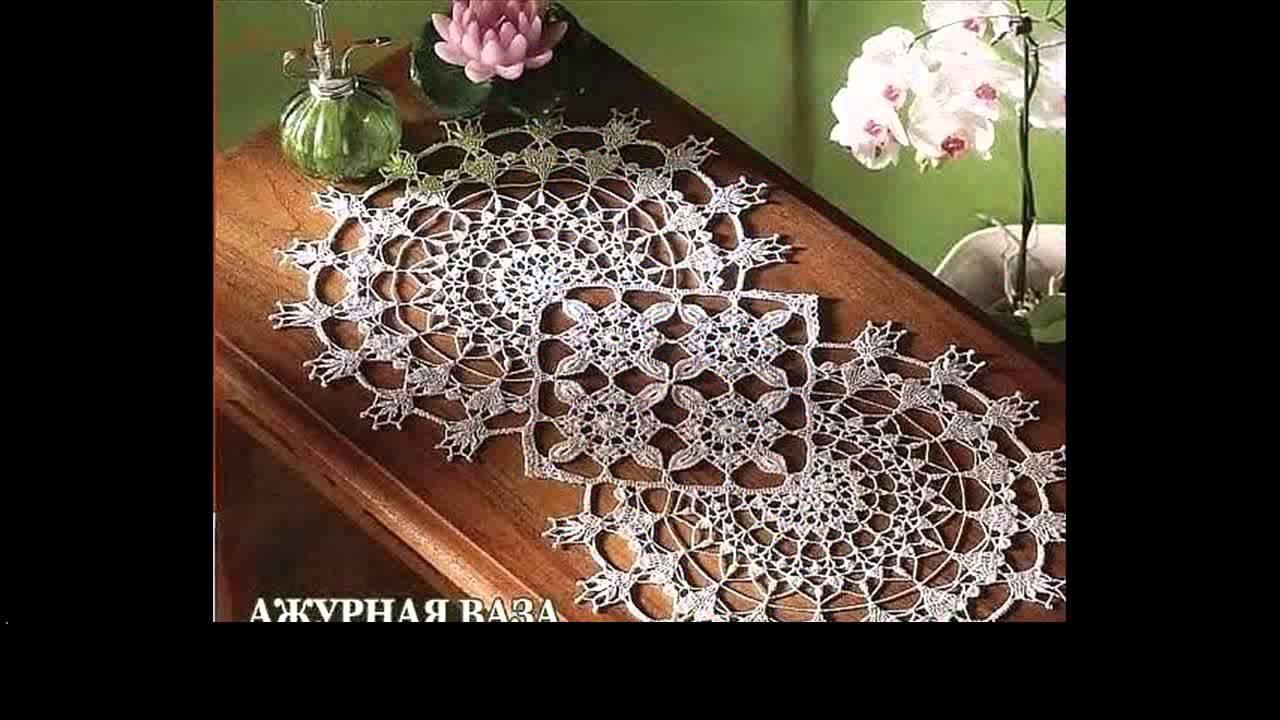 easy crochet table runner patterns  YouTube
