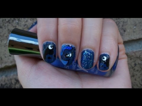 My little pony inspired nail art design ft princess luna youtube prinsesfo Gallery