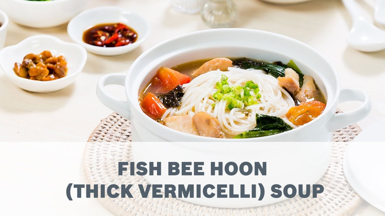 Fish Bee Hoon Thick Vermicelli Soup Recipe Cooking With Bosch Youtube