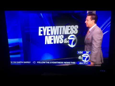Bill Evans ABC7's Meteorologist being weird NYC