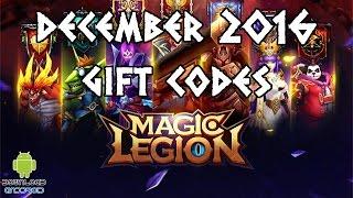Magic Legion - Hero Legend Gift Codes December 2016