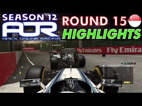 F1 2016 - AOR S12 Round 15 - Singapore Highlights