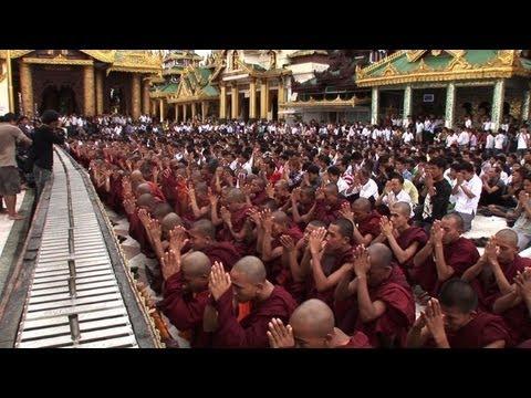 Protest held in Myanmar