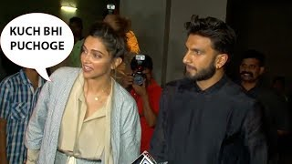 When Ranveer Singh Got Super Angry On Media For Asking Marriage Question To Deepika Padukone