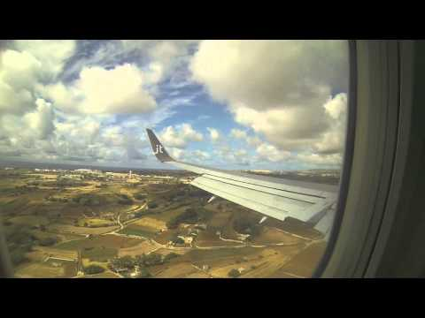 Jet Time B737-300 landing at LMML (Malta International Airport)