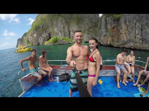 Go Pro Phi Phi Islands, Phuket Vacation Preview (Chad & Valeriia)