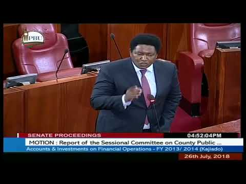 Motion  Report of the sessional Committee on County Public funds for Kajiado 2014 2015   26th July