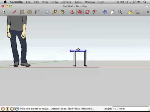 Google Sketchup - Medium - How to Create a Chair