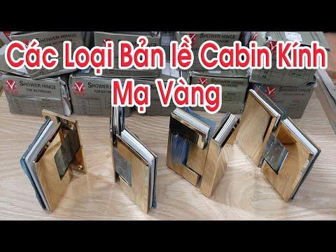Phòng tắm kính - Bản Lề Cabin Phòng Tắm Kính Mạ Vàng VVP Thái Lan