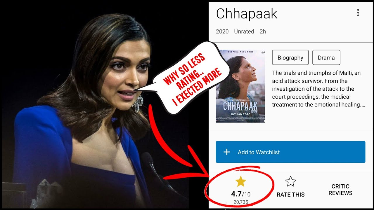 Deepika Padukone Finally Breaks Silence On Low Ratings on ...