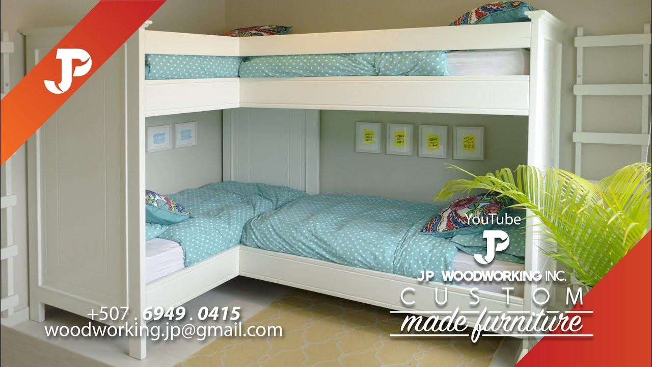 Proyecto camas camarote 4 plazas playa bijao youtube for Camas de dos plazas baratas