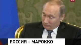 Владимир Путин в Кремле приветствовал короля Марокко Мухаммеда Шестого