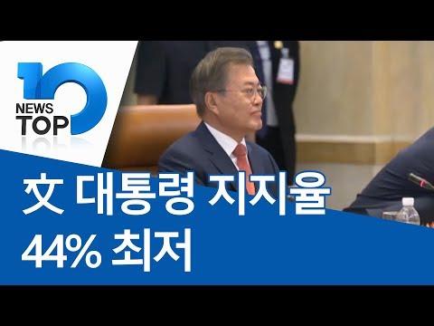 文 대통령 지지율 44% 최저