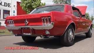 Ford Mustang 1967 Rot V8 289 V8-Sound!