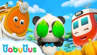 Bayi Panda Bermain Petak Umpet Bersama Kereta Api | Lagu Anak-anak | BabyBus Bahasa Indonesia