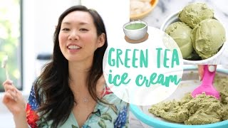 3 Ingredient ♥ Green Tea (Matcha) Ice Cream Recipe