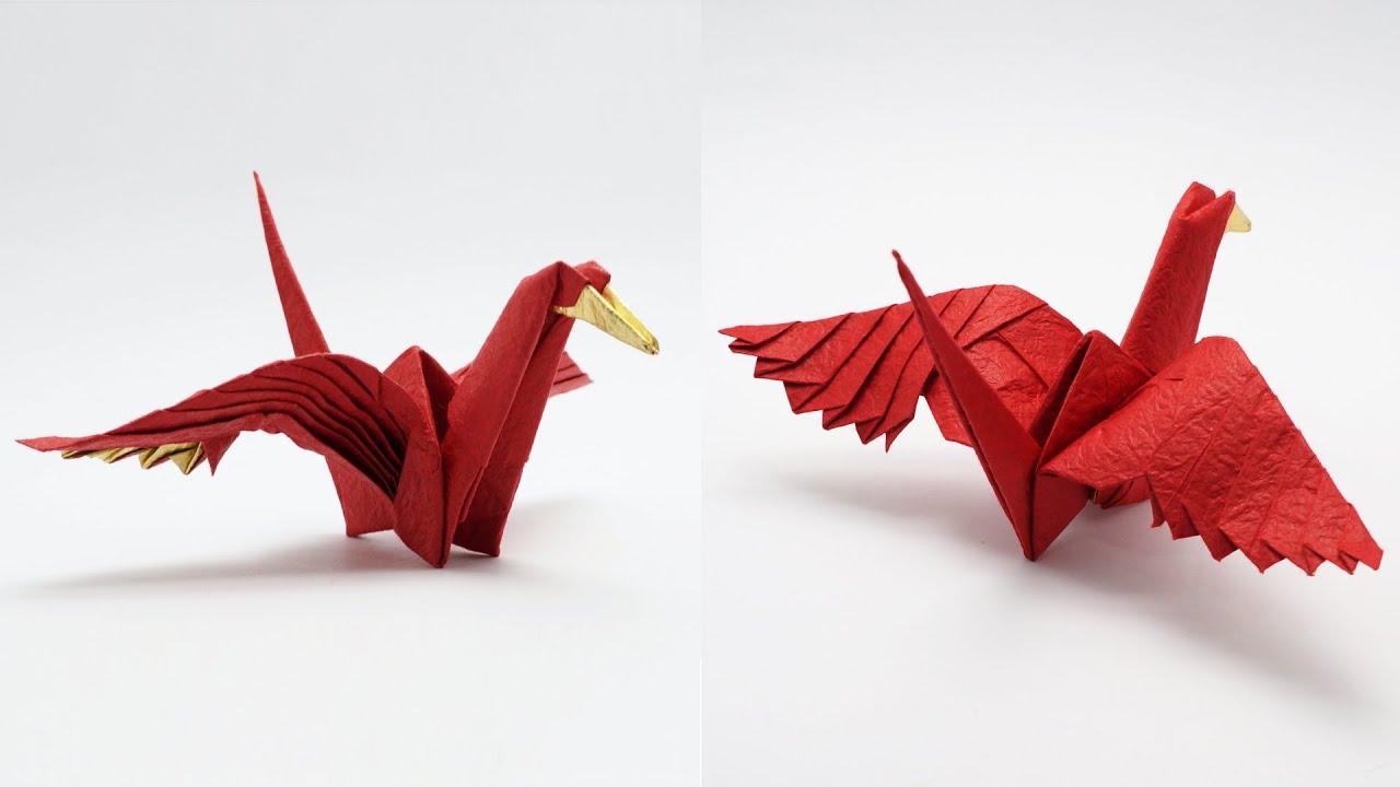 origami feathered crane jo nakashima youtube