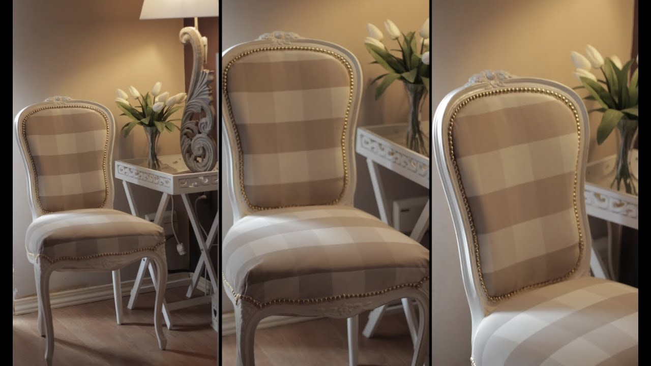 Restaurar tapizar y pintar una silla de la a a la z viyoutube - Pintar sillas de madera ...
