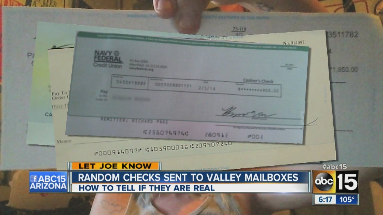 Scam Alert  Fake Checks Being Sent To Arizona Residents
