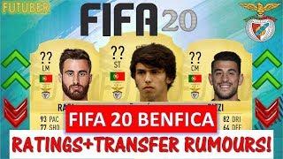 FIFA 20   BENFICA PLAYER RATINGS!! FT. JOAO FELIX, RAFA, PIZZI ETC... (TRANSFER RUMOURS INCLUDED)